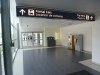 Entrance to rental car counters on arrivals level at Winnipeg International Airport